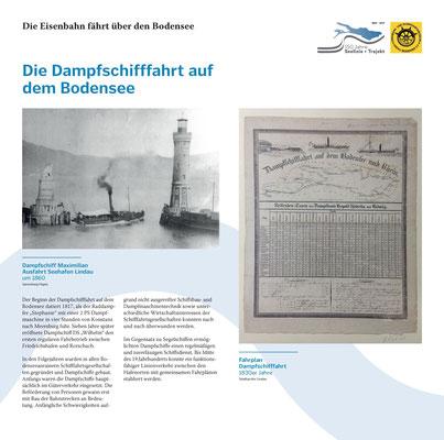 Tafel 9: Die Anfänge der Dampfschifffahrt auf dem Bodensee; Text S.Stern; Design & Layout lighthouse; Druck J.Soldakin