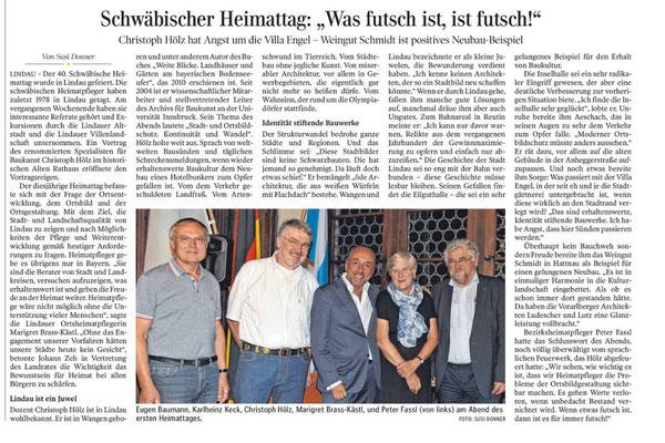 Lindauer Zeitung 25.09.2018: Bezirksheimattag in Lindau