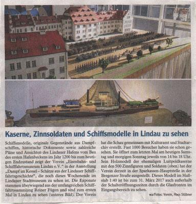 """Westallgäuer 17.12.2016: Ausstellung """"Dampf im Kessel"""""""