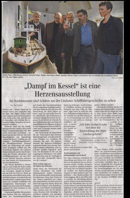"""Lindauer Zeitung 26.11.2016: Vernissage """"Dampf im Kessel"""""""