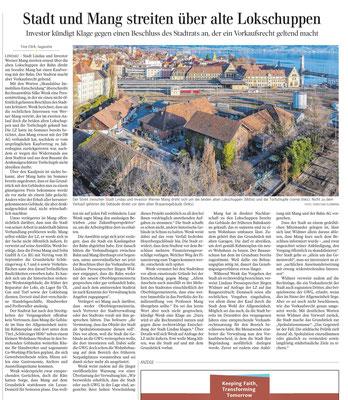 Lindauer Zeitung 03.11.2020: Stadt Lindau beansprucht Vorkaufsrecht für ehemaliges Bahnbetriebswerk