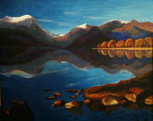 Lake District, Acryl op linnen, 50 x 60 cm. 250,00 euro