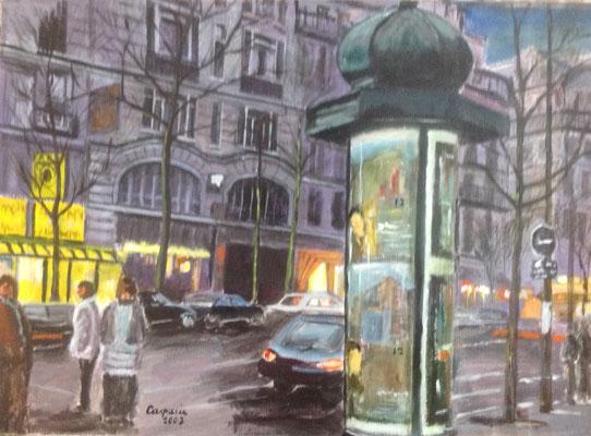 Parijs, Acryl op papier, A1 formaat, 125,00 euro