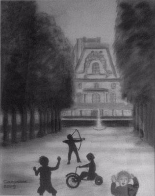 Project Mussorgsky: De Tuilerien met spelende kinderen