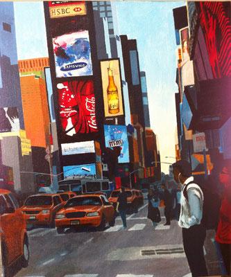 New York, acryl op linnen, 50 x 60 cm., niet te koop.