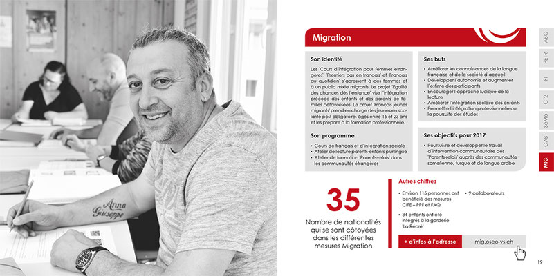 OSEO Valais - Rapport annuel 2016 - Photo © Nathalie Pallud - Palprod - 2017