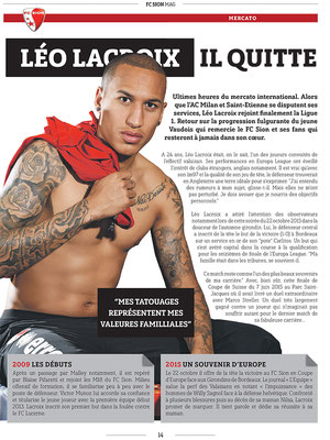 FC Sion Mag - 2016 - Photo © Nathalie Pallud