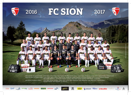 Equipe FC Sion 2016 / 2017 - Photo © Nathalie Pallud