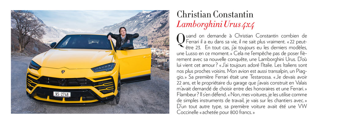 Paris Match - Mars 2019 / Christian Constantin // Photo © Nathalie Pallud