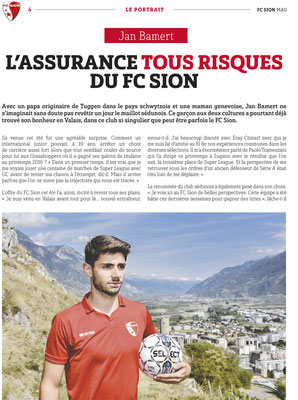 Jan Bamert - FC Mag 2017 - FC Sion // Photo © Nathalie Pallud