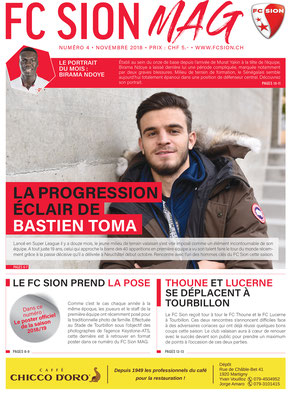 FC Sion Mag // Couverture novembre 2018 // Photo © Nathalie Pallud