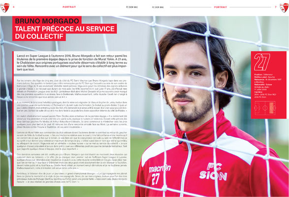 Couverture FC Sion MAG / Bruno Morgado // Photo © Nathalie Pallud