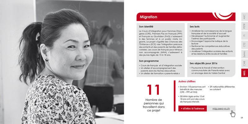 OSEO Valais - Rapport annuel 2015 - Photo © Nathalie Pallud - Palprod - 2016