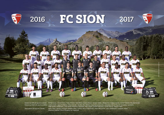 Photo d'équipe FC Sion 2016 // Photo © Nathalie Pallud