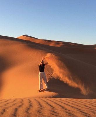 Sahara Desert, Morocco, self-portrait