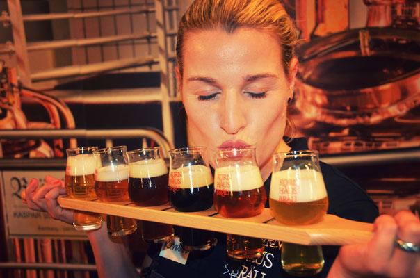 Die 6 Hauptbiere gibt es jetzt auch als Degustationsbrett :)