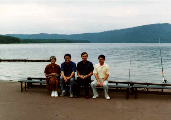 At Lake Akan with Prof. Kyusaku Kuriyama,  1990.9.1