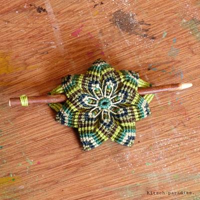 Kitsch-paradise artisans créateurs, Barrette mandala