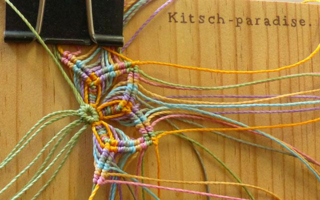 kitsch-paradise, artisans créateur sur un projet d'accessoire de cheveux #étape 2