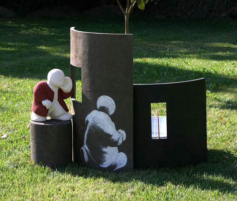 Fontaine contemporaine pour jardin