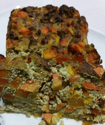 Cake au tofu et petit légumes