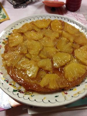 Tatin d'ananas au gingembre et à la sauge (1)