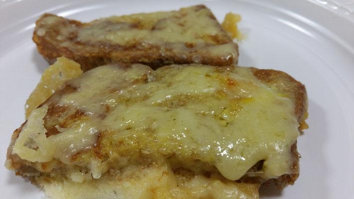 Pain perdu salé au fromage