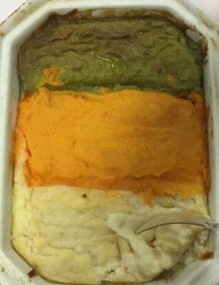 trio de purée (poireau, carotte & céleri)