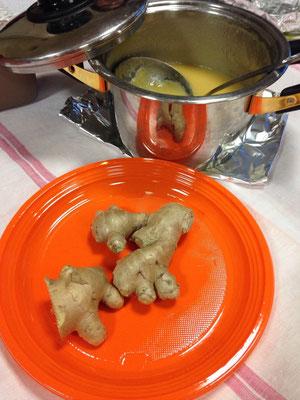 Soupe de navets au gingembre