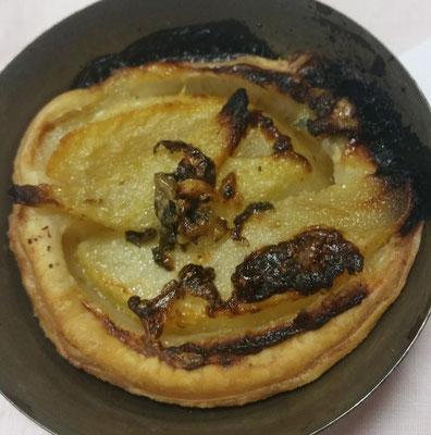 Mini tartelettes poires au roquefort