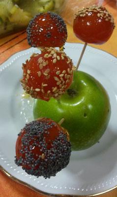 tomate au miel et au sésame/pavots