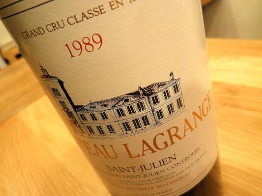 1989年 シャトー・ラグランジュ 小売価格¥32,400