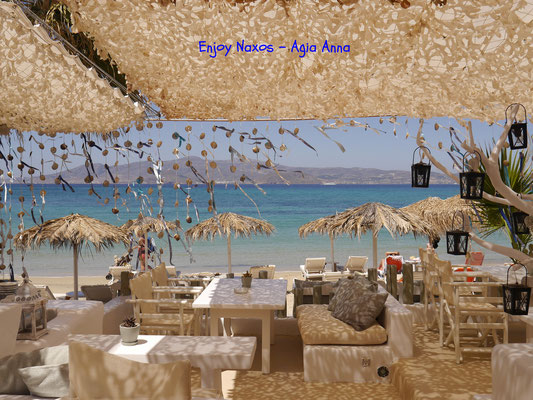 Enjoy Naxos Greece Agia Anna beach side