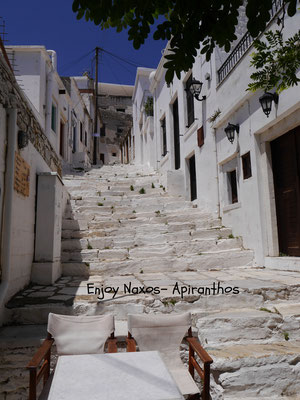 The small streets in Apiranthos - Naxos Greece