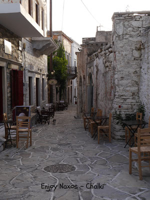 Old Venetian  building getting restored in Chalki Naxos Greece
