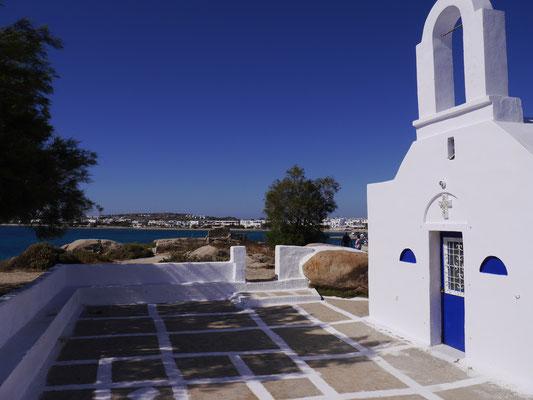 A small church on the beach - Agia Anna - Naxos Island