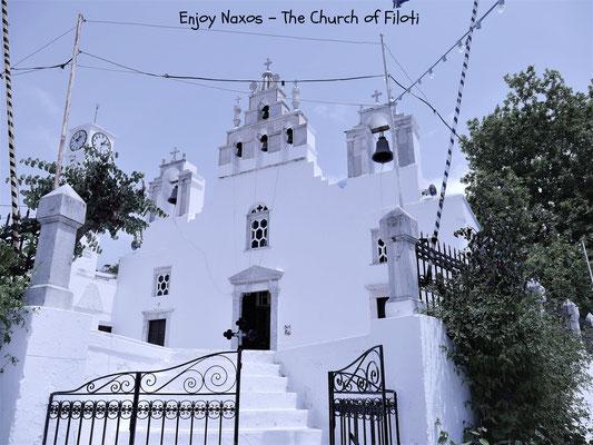 A Beautiful white church in Filoti