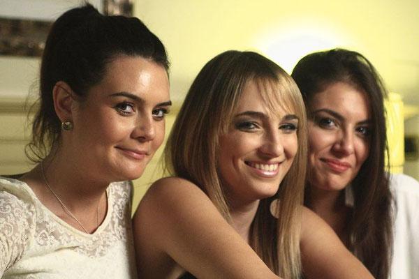 Sara Larocca, Martina Scupelli e Giulia Campetti