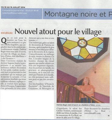 Le Journal d'Ici - Chambre d'hôtes - Dourgne - Tarn