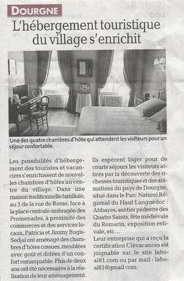 La Dépêche du Midi - Chambre d'hôtes - Dourgne - Tarn