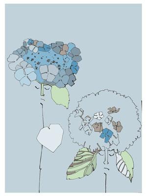 'Les hortesias bleus' (Голубые гортензии)