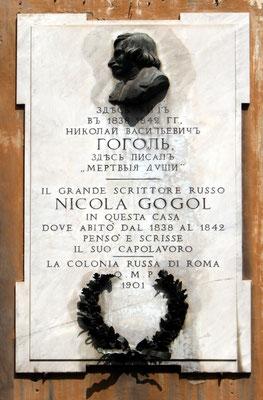 Памятная доска Н.В.Гоголя в Риме
