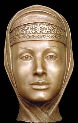 Марфа Собакина, 3-я жена Ивана Грозного, реконструкция по черепу С.А.Никитина