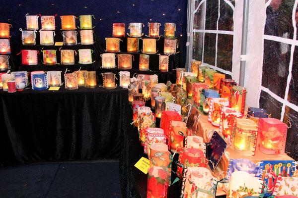 Weihnachtliche Lichter in Handarbeit