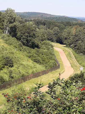 Blick auf den ehemaligen Grenzstreifen