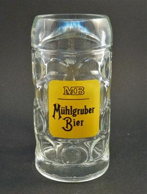 """OE087, Brauerei Mühlgrub, """"Schartner"""" Fein Ges.m.b.H., Bad Hall, Bezirk Steyr Land, OÖ, + 1986  (Glas von ca. 1970/1980)"""