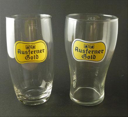 """""""Ausferner Bier"""" , Reutte, Tirol, + 1969 (Glas von ca. 1960)"""