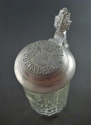 ?? Brauerei Schwendmayer, Obernberg a. Inn, Bezirk Ried, OÖ, + 1915  (Glas von ca. 1900)