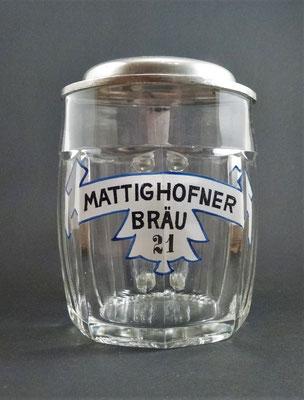 OE068, Hofbräuhaus Mattighofen, OÖ, + 1975  (Glas von ca. 1920)