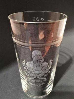 Bierbrauerei Pottenbrunn, Bezirk St. Pölten, + 1904 (Glas von 1898 ,zum 50 jährigen Regierungsjubiläum von Kaiser Franz Josef, Jubiläumsausstellung im Prater 1898)